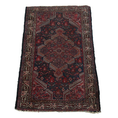 2'6 x 4'2 Hand-Knotted Wool Accent Rug