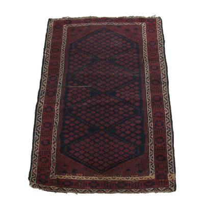 2'8 x 4' Hand-Knotted Wool Accent Rug