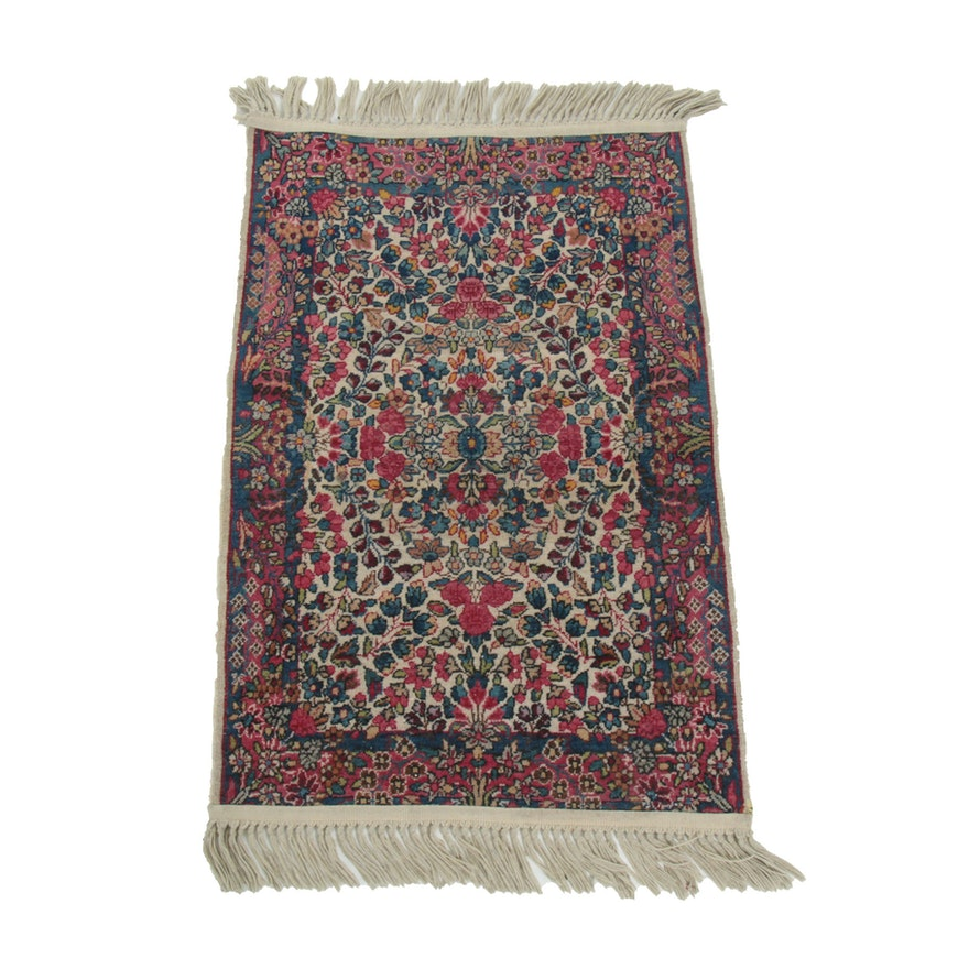 2' x 3'7 Hand-Knotted Floral Wool Accent Rug