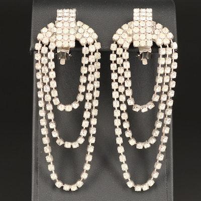 Vintage Rhinestone Swag Earrings