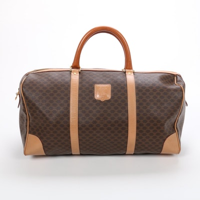 Celine Duffle Bag in Macadam Canvas and Leather