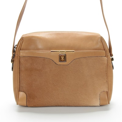 Gucci Shoulder Bag in Pony Hair and Leather