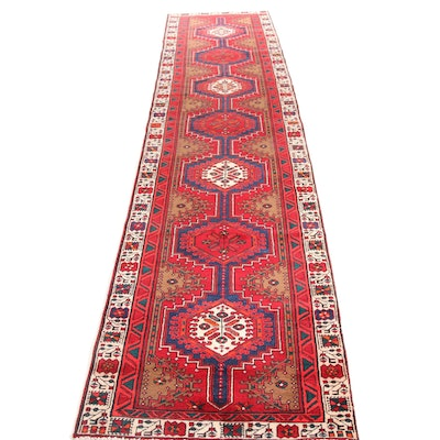 3' x 14' Hand-Knotted Northwest Persian Runner, 1960s
