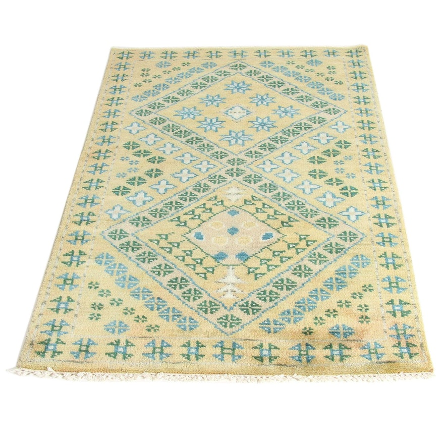 3'9 x 6 Hand-Knotted Indo Moroccan Rug, 2000s