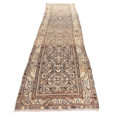 3'4 x 14'3 Hand-Knotted Northwest Persian Runner, 1950s