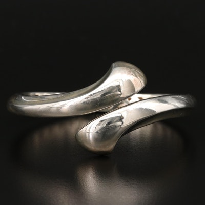 Sterling Silver Hinged Bypass Bangle
