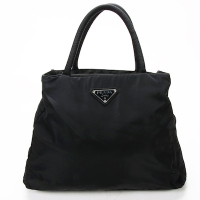 Prada Shoulder Bag in Black Tessuto Nylon