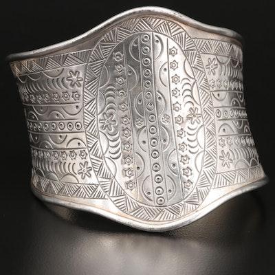 Sterling Silver Stamped Cuff