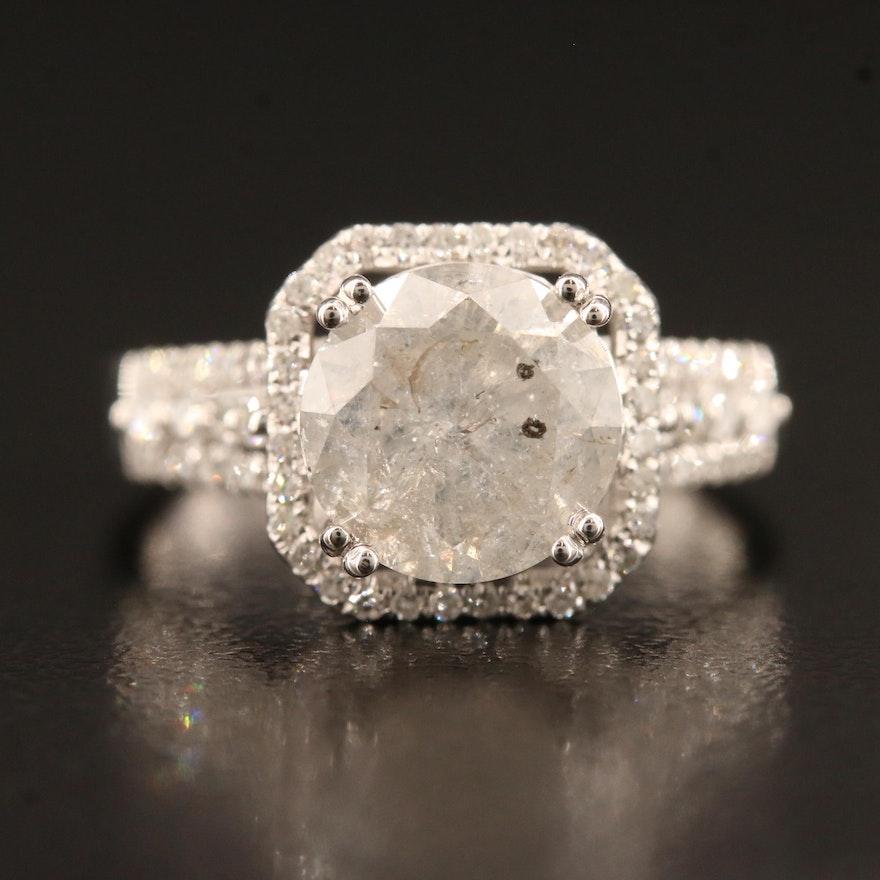 14K 3.14 CTW Diamond Ring