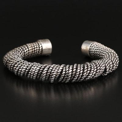 Suarti Sterling Coiled Cable Cuff
