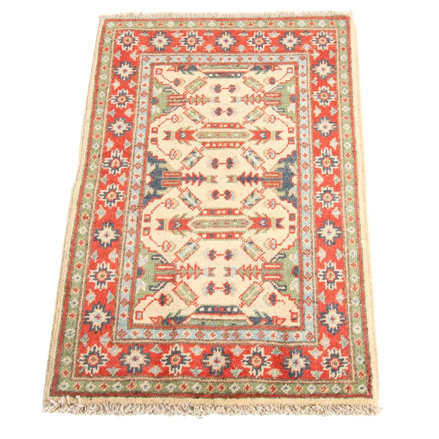 1'11 x 3'1 Hand-Knotted Afghani Persian Tabriz Rug, 2000s