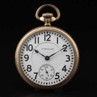 1924 Hamilton Railroad Grade Gold Filled Pocket Watch