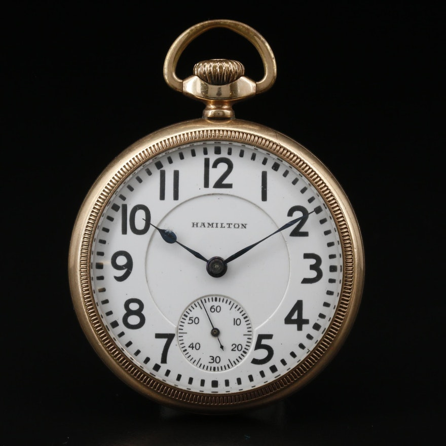1924 Hamilton Railroad Grade Gold Filled Pocket Watch