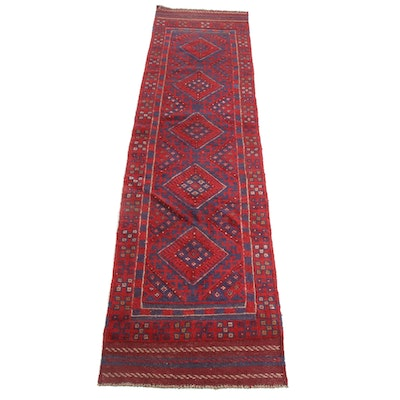 2' x 8'8 Hand-Knotted Afghani Turkoman Runner, 2000s
