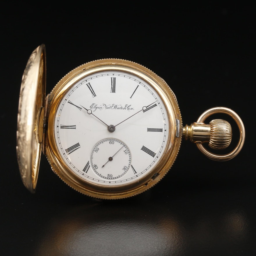 1891 Elgin National Watch Co. Gold Filled Hunting Case Pocket Watch