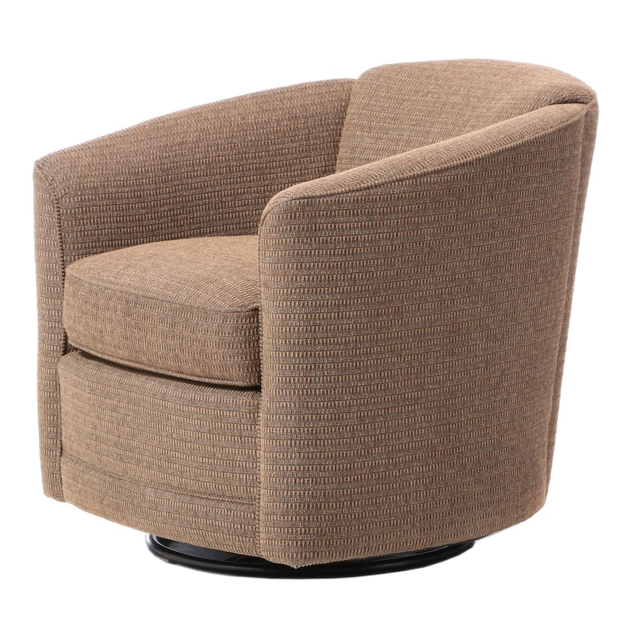 Smith Brothers of Berne Upholstered Swivel-Glide Tub Chair