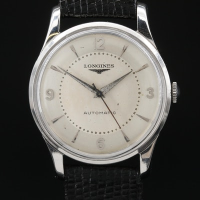 Vintage Longines Stainless Steel Automatic Wristwatch