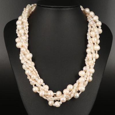 Pearl Torsade Necklace