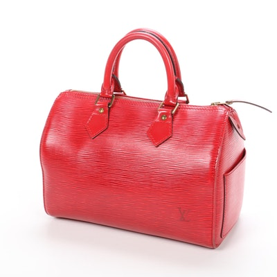 Louis Vuitton Speedy 30 in Red Epi Leather