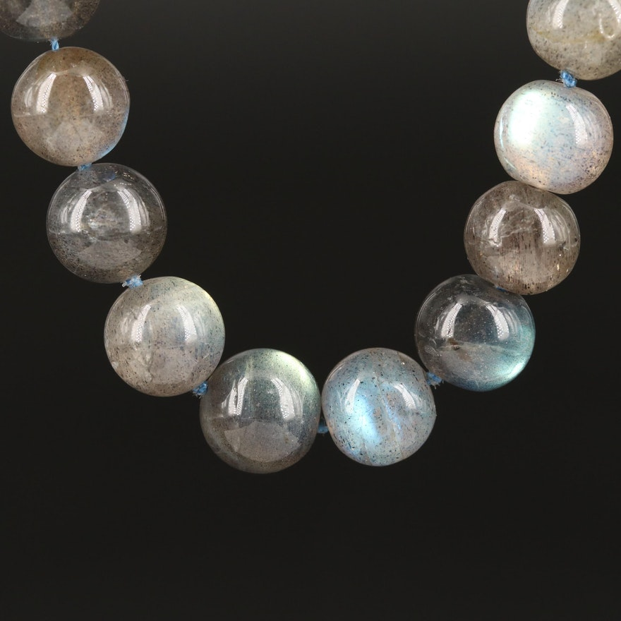 Sterling Labradorite Knotted Necklace