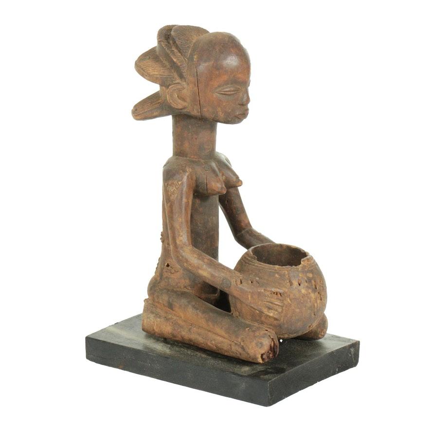 "Luba ""Mboko"" Wooden Divination Vessel, Democratic Republic of the Congo"