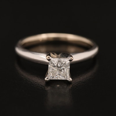 14K 0.73 CT Diamond Solitaire Ring