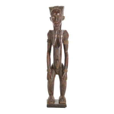Dan Inspired Carved Wood Female Figure, West Africa