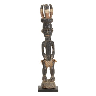 Yaka Inspired Carved Wood Figure, Central Africa