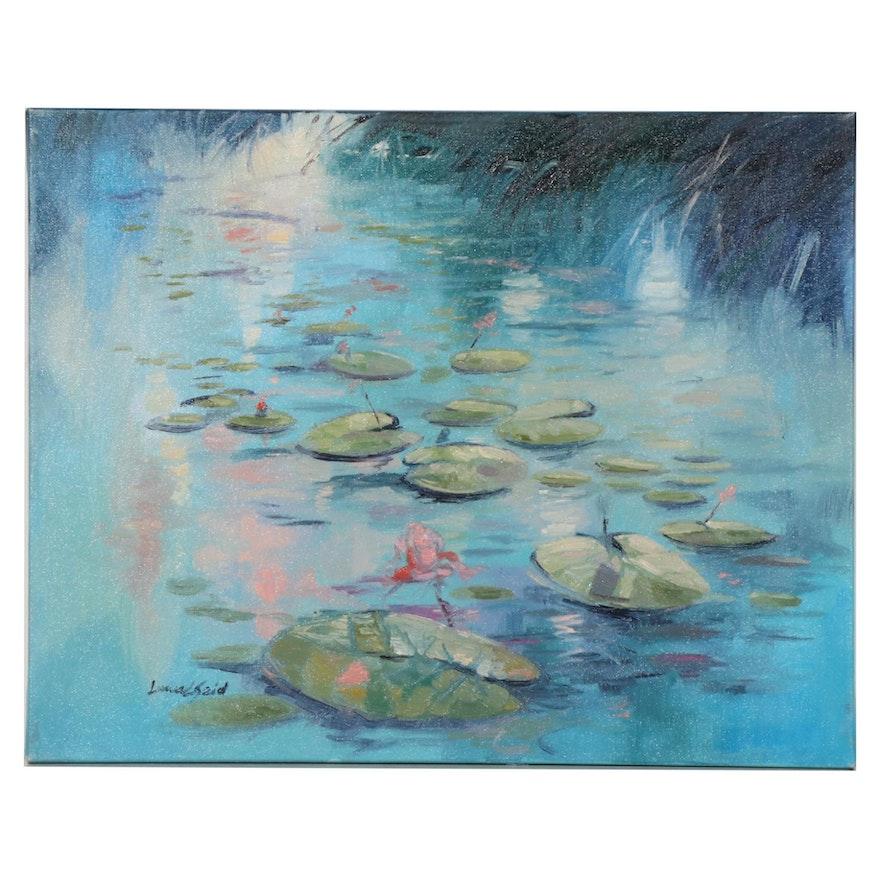 """Said Oladejo-lawal Oil Painting """"Impressionist Remembered II"""""""