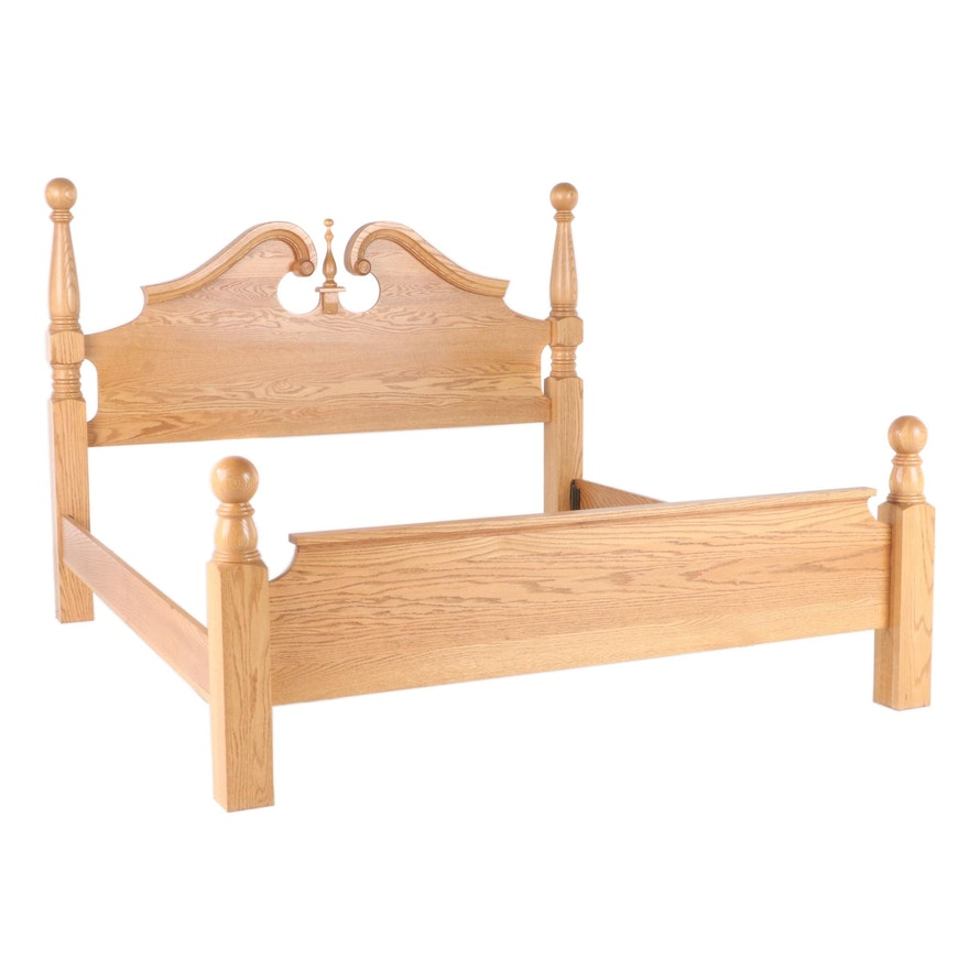 Federal Style Oak King Size Bed Frame