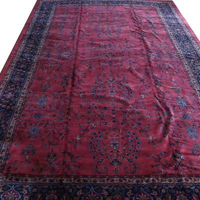 10'9.5 x 18' Hand-Knotted Palace Sized Signed Persian Fine Weave Wool Rug