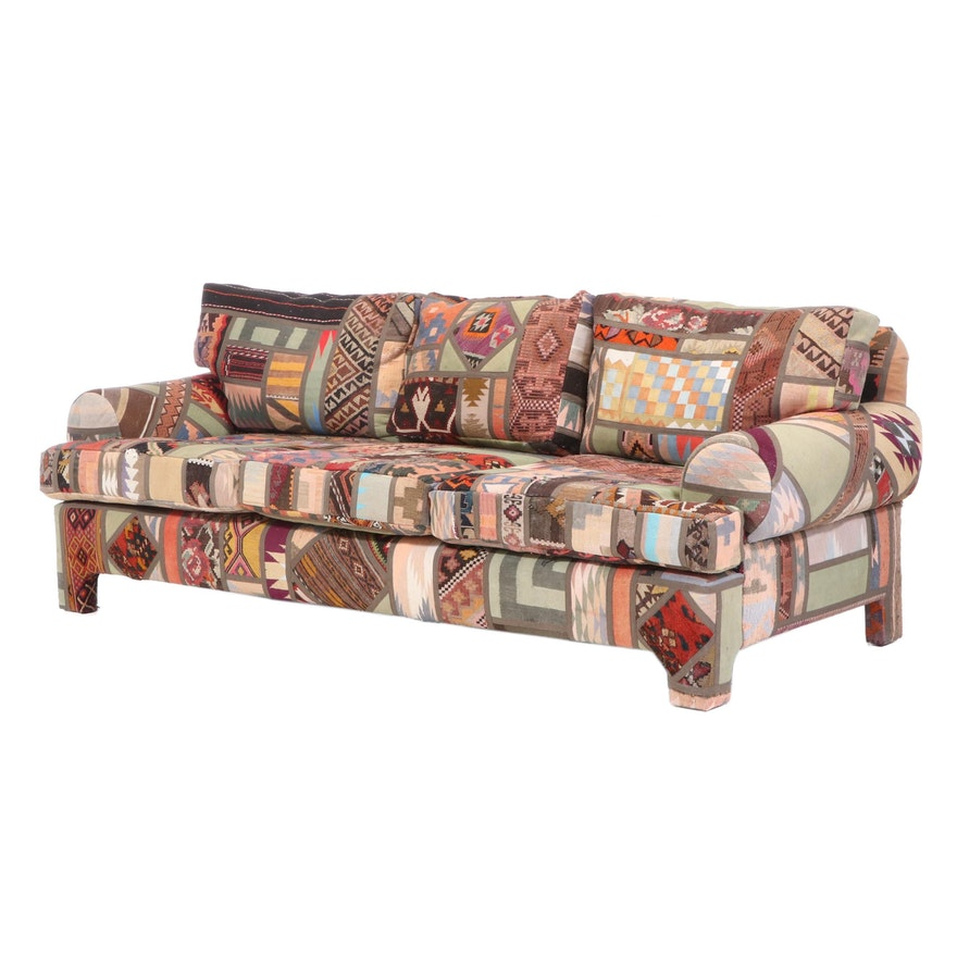 Seret & Sons Santa Fe Patchwork Rug Upholstered Sofa