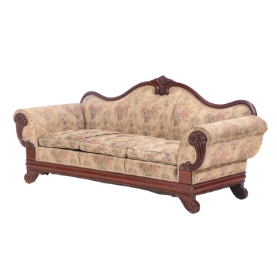 American Classical Revival Mahogany Sofa, Late 19th/Early 20th Century
