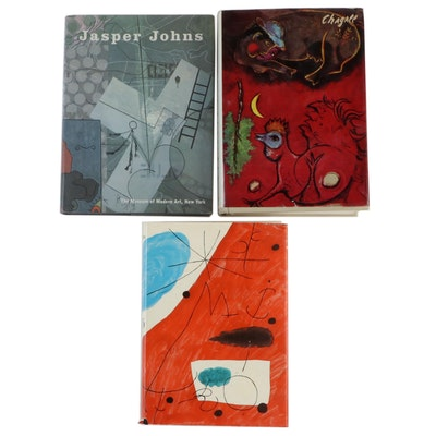 Art Books Featuring the Works of Jasper Johns, Miró and Chagall