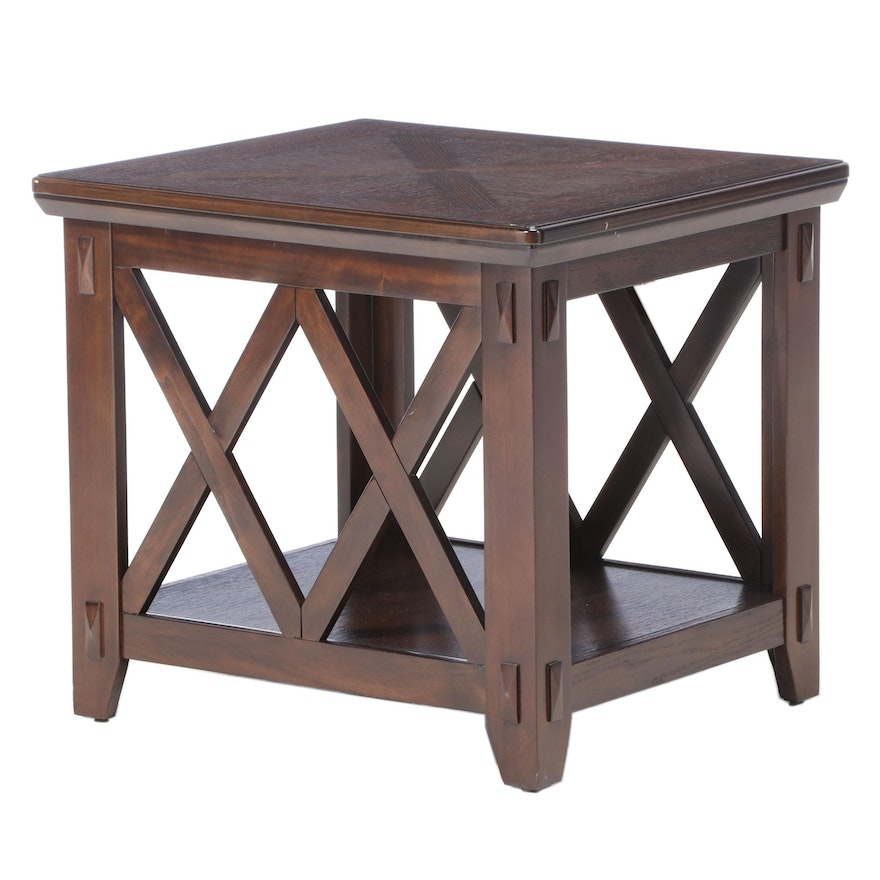Standard Furniture Arts and Crafts Style Two-Tier Side Table