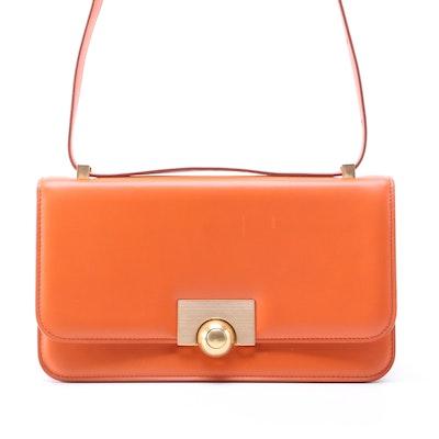 Bottega Veneta BV Classic Shoulder Bag in Orange Calfskin Leather