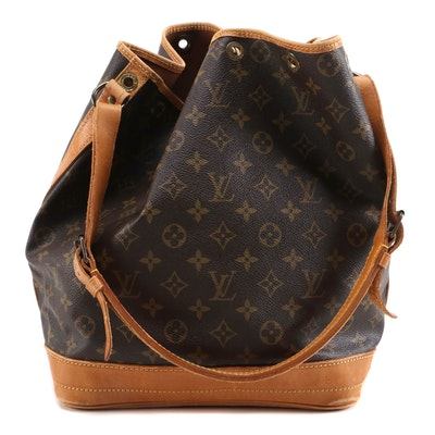 Louis Vuitton Noé in Monogram Canvas and Vachetta Leather, 1980s Vintage