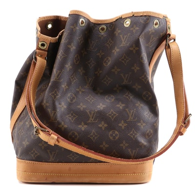 Louis Vuitton  Noé in Monogram Canvas and Vachetta Leather