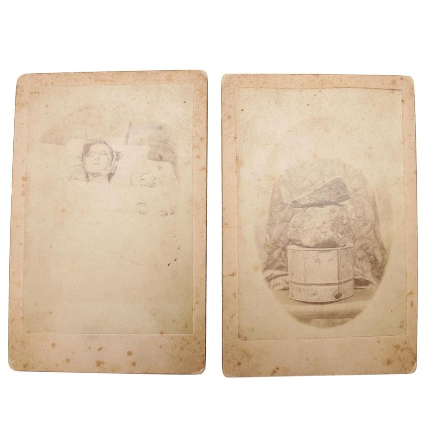 Post Mortem and Crime Evidence Cabinet Cards