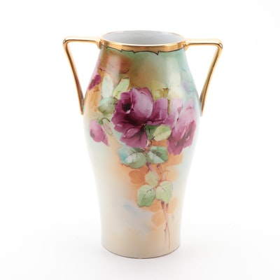 Heinrich & Co. Hand-Painted Porcelain Vase, Early 20th Century