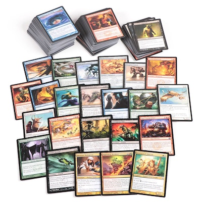 Magic: The Gathering Cards Including Steward of Valeron and Exploding Borders