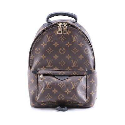 Louis Vuitton Palm Springs PM Backpack Bag in Monogram Canvas and Black Leather