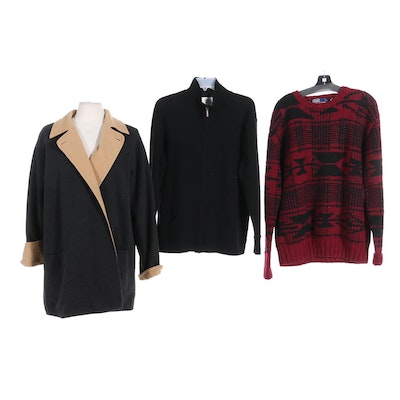 Ralph Lauren, Neiman Marcus, and Jax Cashmere and Wool Sweaters and Coat