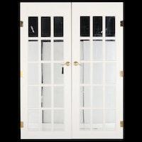 Mirrored Panel Interior French Doors
