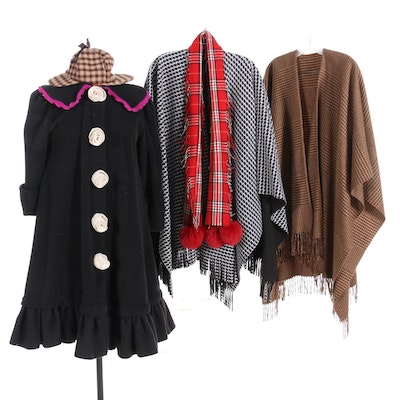 Women's and Unisex Cold Weather Outerwear and Accessories Including Fox Fur