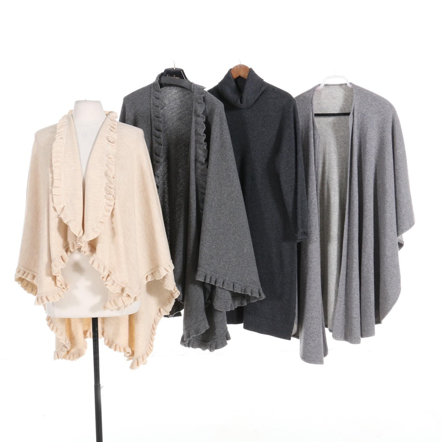 Neiman Marcus Cashmere Dress with Wool and Cashmere Shawls