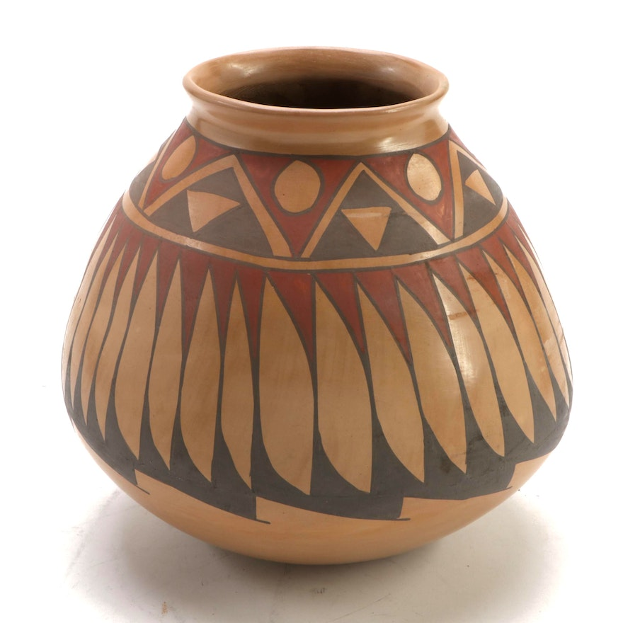 Julio Silveira Polychrome Burnished Clay Olla