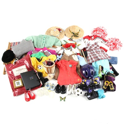 American Girl Doll Accessories Including Furniture, Clothing, and Shoes