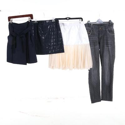 Women's Mini Skirts and Skinny Jeans Including Zara