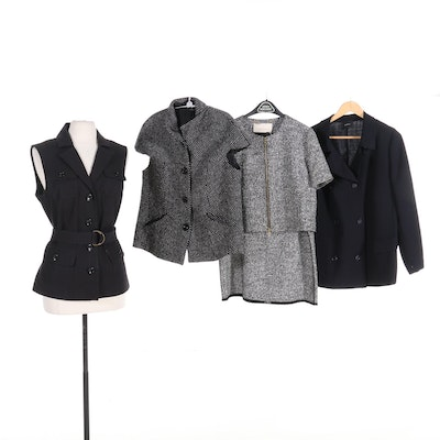 Rachel Roy Skirt Suit with Akris, Basler, and Donna Degnan Jackets